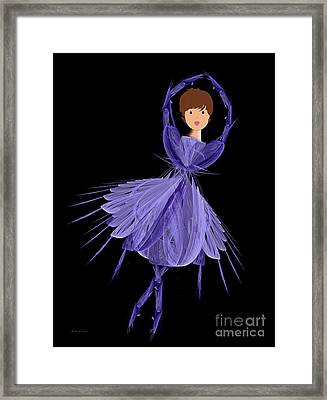 5 Blue Ballerina Framed Print by Andee Design