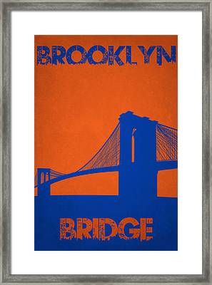 Brooklyn Bridge Framed Print by Joe Hamilton