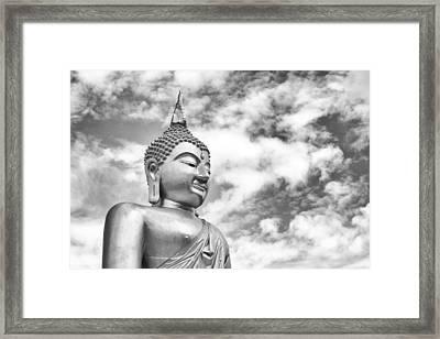 Buddha Statue Framed Print by Sahawat Kiankola
