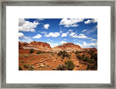 Captiol Reef National Park Framed Print by Mark Smith