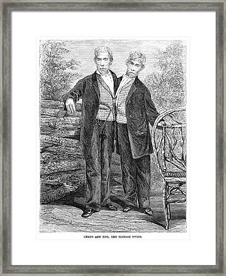 Chang And Eng (1811-1874) Framed Print by Granger