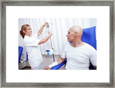 Chemotherapy Treatment Framed Print by Thomas Fredberg