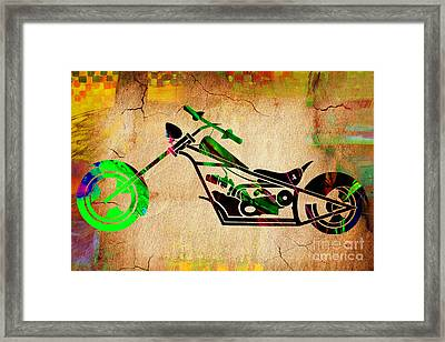 Chopper Motorcycle Framed Print by Marvin Blaine