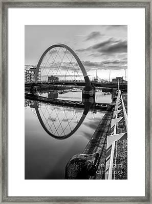 Clyde Arc Squinty Bridge Framed Print by John Farnan