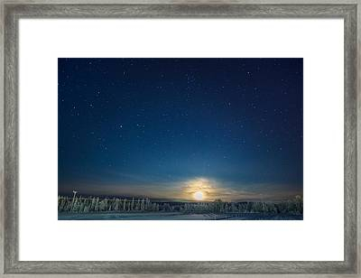 Cold Winter With Temperatures Going Framed Print by Panoramic Images