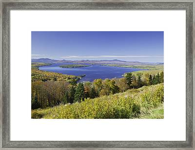 Colorful Fall Forest Near Rangeley Maine Framed Print by Keith Webber Jr