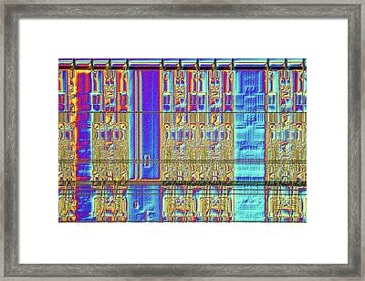 Computer Memory Chip Framed Print by Alfred Pasieka