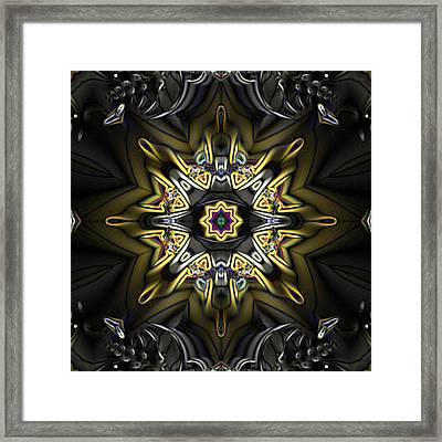 Fractal Kaleidoscope Framed Print by Gina Lee Manley