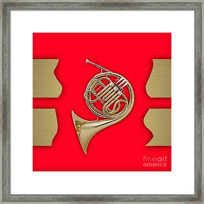 French Horn Collection Framed Print by Marvin Blaine