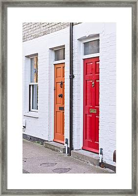 Front Doors Framed Print by Tom Gowanlock