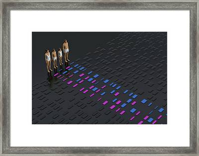 Genetic Relationships Of A Family Framed Print by David Parker