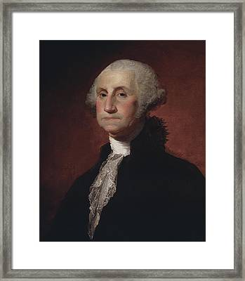 George Washington Framed Print by Gilbert Stuart