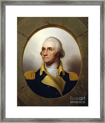 George Washington Framed Print by Rembrandt Peale