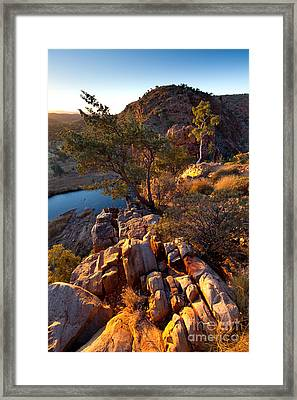 Glen Helen Gorge Framed Print by Bill  Robinson