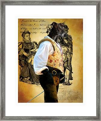 Greyhound Art Canvas Print Framed Print by Sandra Sij