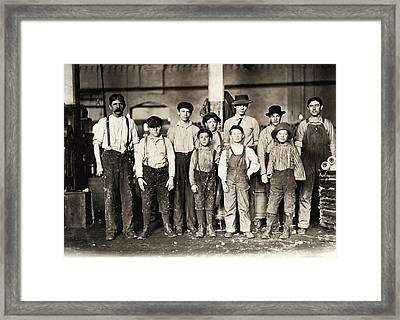 Hine Child Labor, 1909 Framed Print by Granger