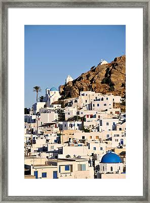 Ios Town Framed Print by George Atsametakis