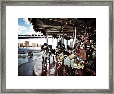 Jane's Carousel Framed Print by Natasha Marco
