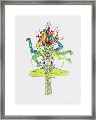 5 Framed Print by Jessica McLellan