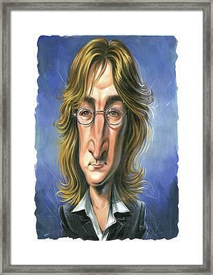 John Lennon Framed Print by Art