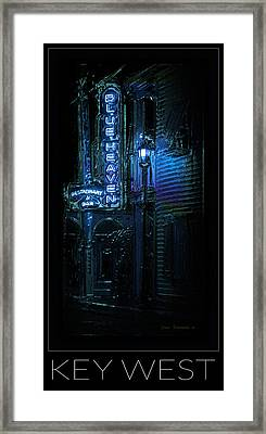 Key West Florida - Blue Heaven Rendezvous Framed Print by John Stephens