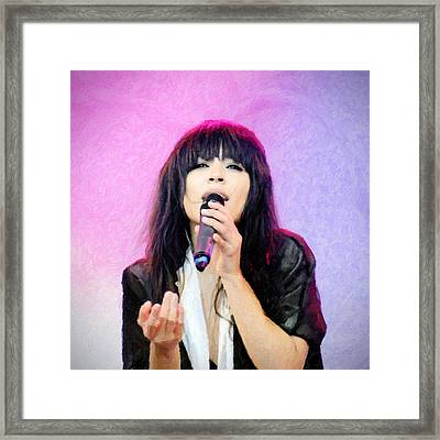 Loreen Framed Print by Toppart Sweden