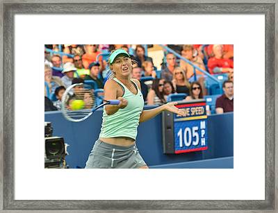 Maria Sharapova Framed Print by David Long