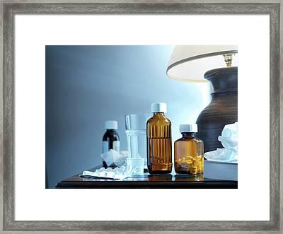 Medicines Framed Print by Tek Image