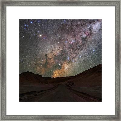Milky Way Over The Atacama Desert Framed Print by Babak Tafreshi