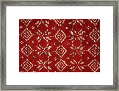 Motif From Antique Asian Textile (pr Framed Print by Jaina Mishra