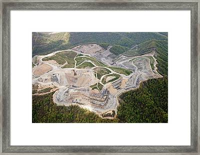 Mountaintop Removal Coal Mining Framed Print by Jim West