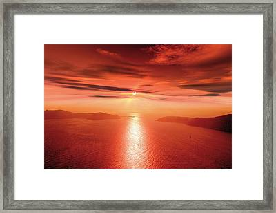 Partial Solar Eclipse Framed Print by Detlev Van Ravenswaay