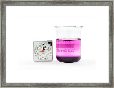 Potassium Permanganate Diffusion In Water Framed Print by Trevor Clifford Photography