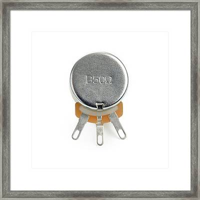 Potentiometer Framed Print by Science Photo Library