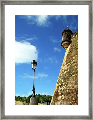 Puerto Rico, San Juan, Fort San Felipe Framed Print by Miva Stock