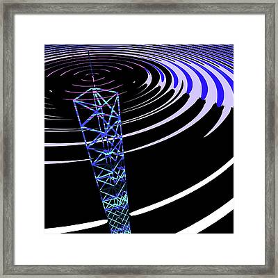 Radio Communications Tower Framed Print by Russell Kightley