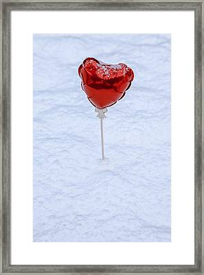 Red Balloon Framed Print by Joana Kruse