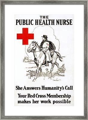 Red Cross Poster, C1917 Framed Print by Granger