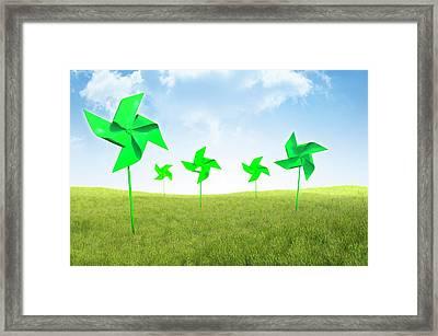 Renewable Energy Framed Print by Andrzej Wojcicki