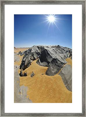 Rock Formations, Egypt's White Desert Framed Print by Science Photo Library