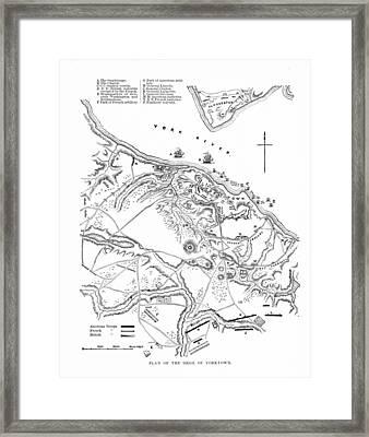 Siege Of Yorktown, 1781 Framed Print by Granger