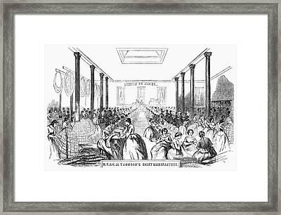 Skirt Factory, 1859 Framed Print by Granger