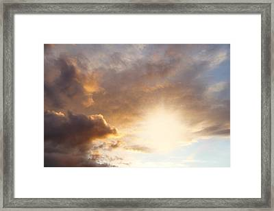 Sky Framed Print by Les Cunliffe