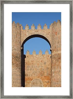 Spain, Castilla Y Leon Region, Avila Framed Print by Walter Bibikow