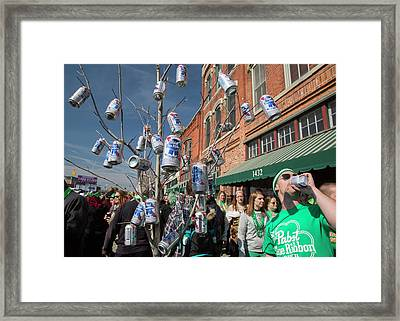 St. Patrick's Day Celebrations Framed Print by Jim West