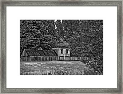 5 Star Barn Bw Framed Print by Steve Harrington