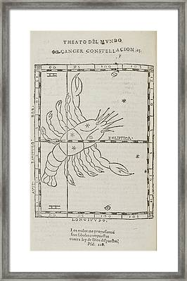 Star Constellations And Heavenly Bodies Framed Print by British Library