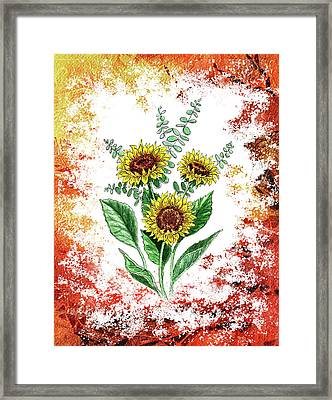 Sunflowers Framed Print by Irina Sztukowski