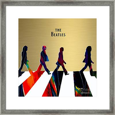 The Beatles Gold Series Framed Print by Marvin Blaine