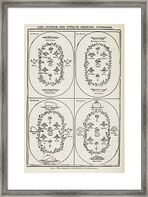 The Book Of Household Management Framed Print by British Library
